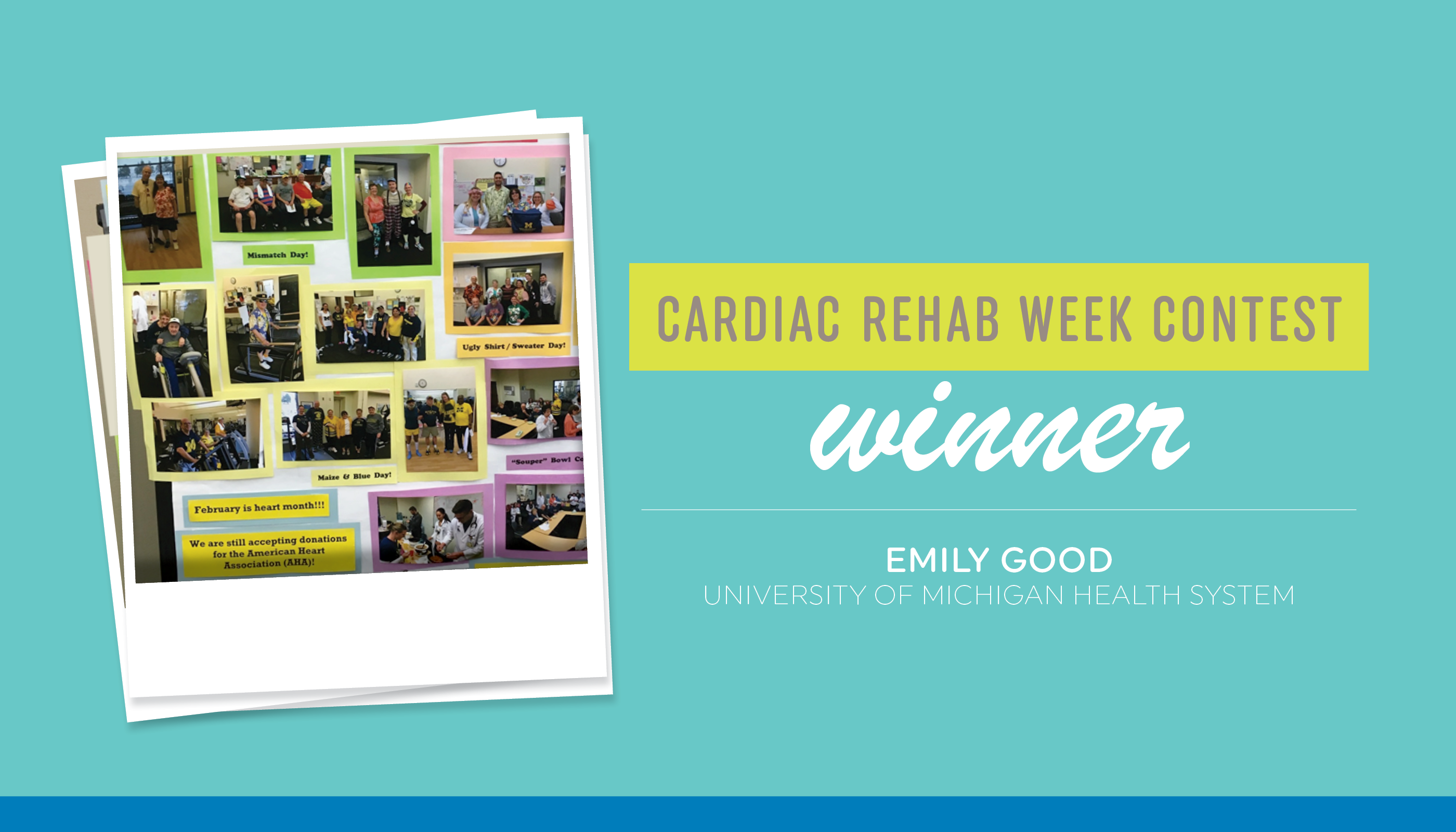 Cardiac Rehab Week Contest Winner