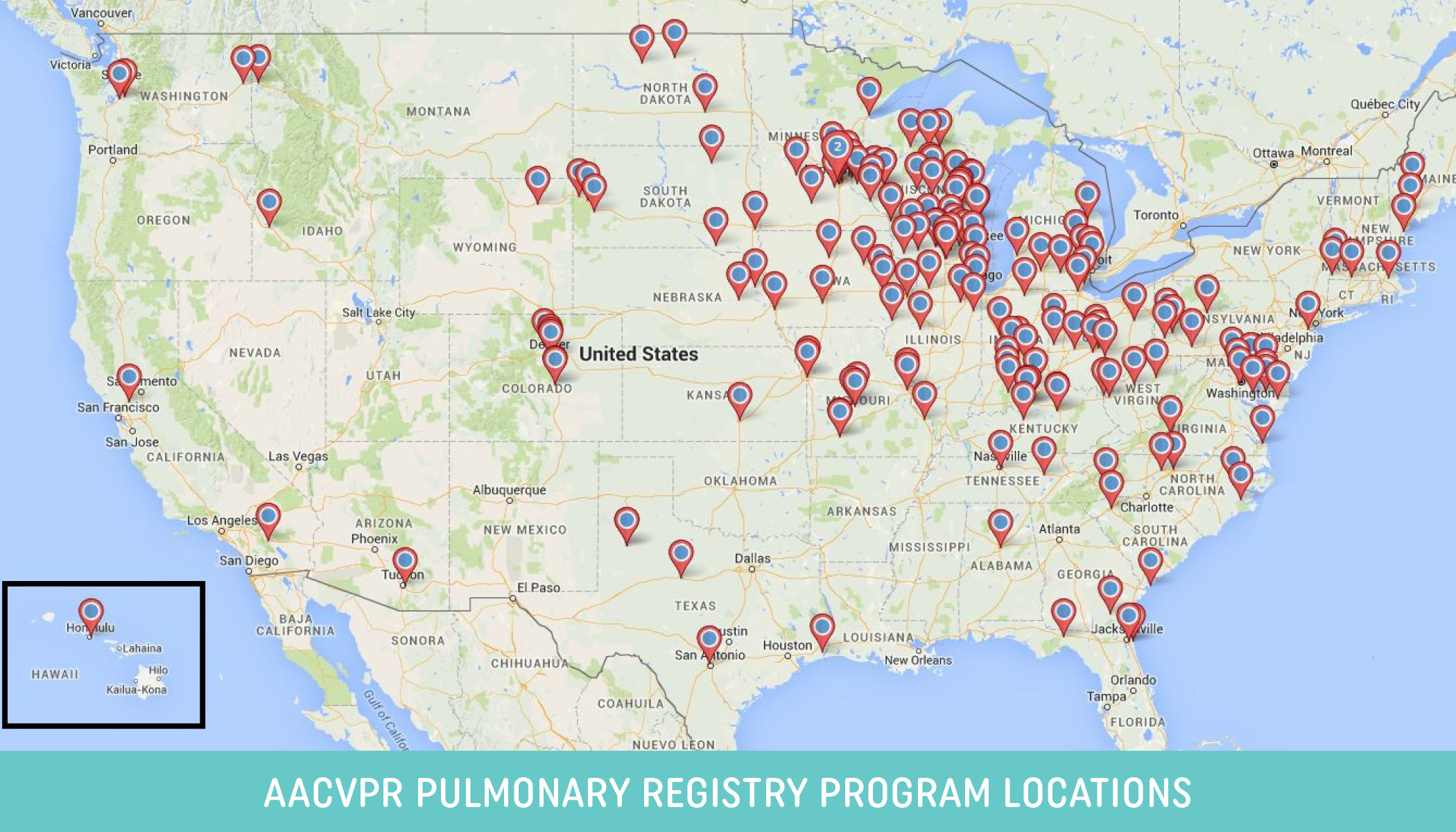 AACVPR Pulmonary Registry Map