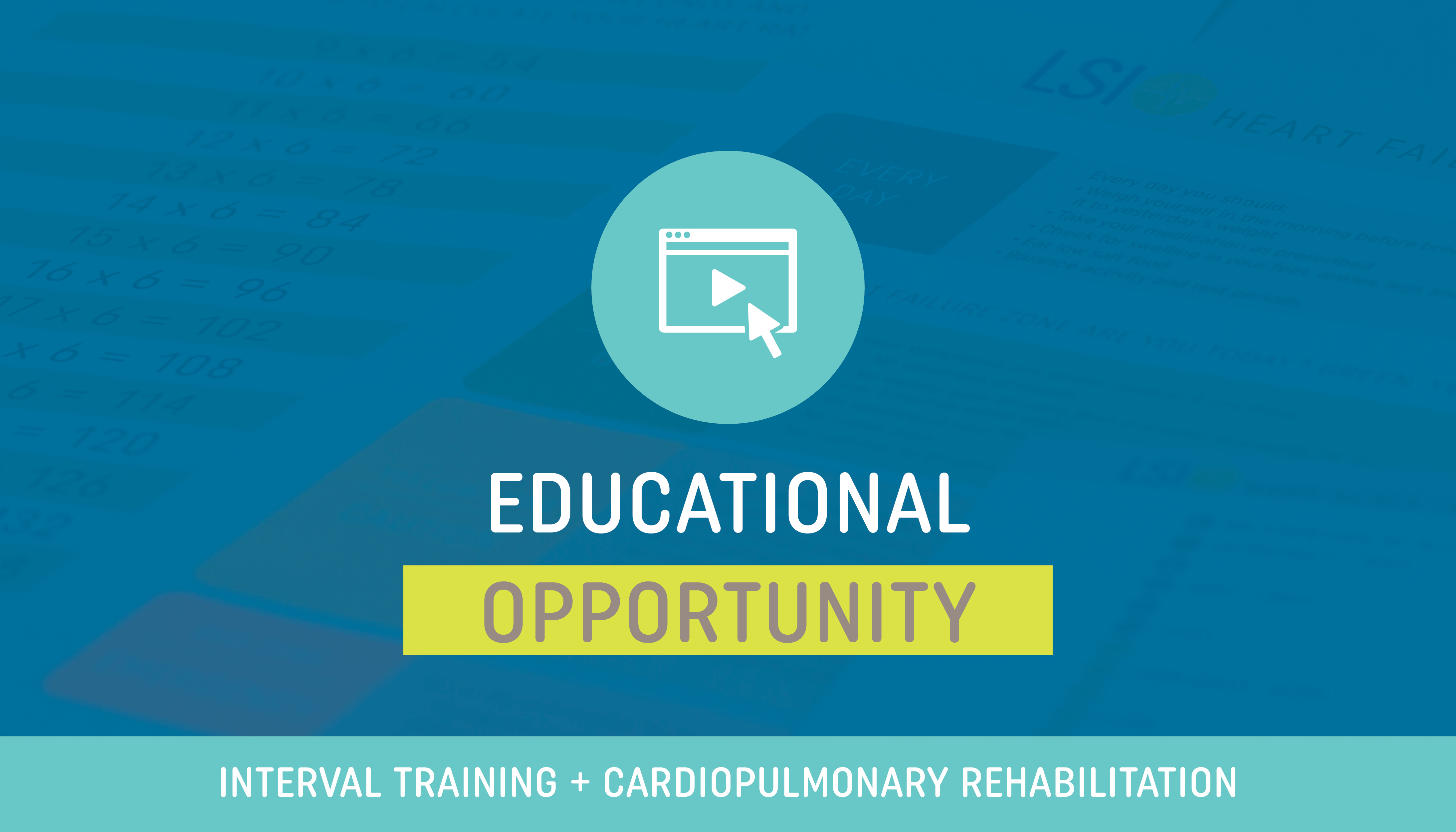 Interval Training in Cardiac and Pulmonary Rehabilitation