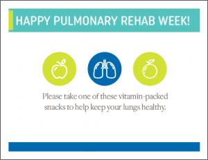 Pulmonary Rehab Week Poster