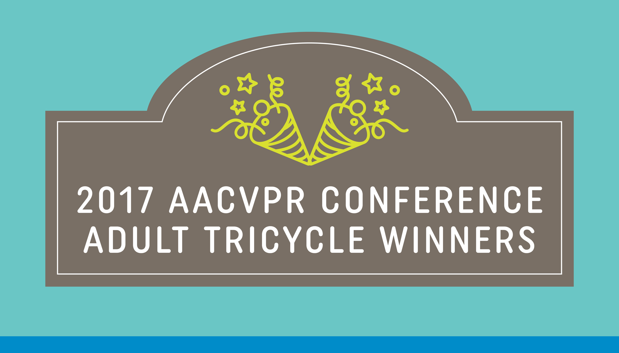 Adult Tricycle Winners at the 2017 AACVPR Annual Meeting