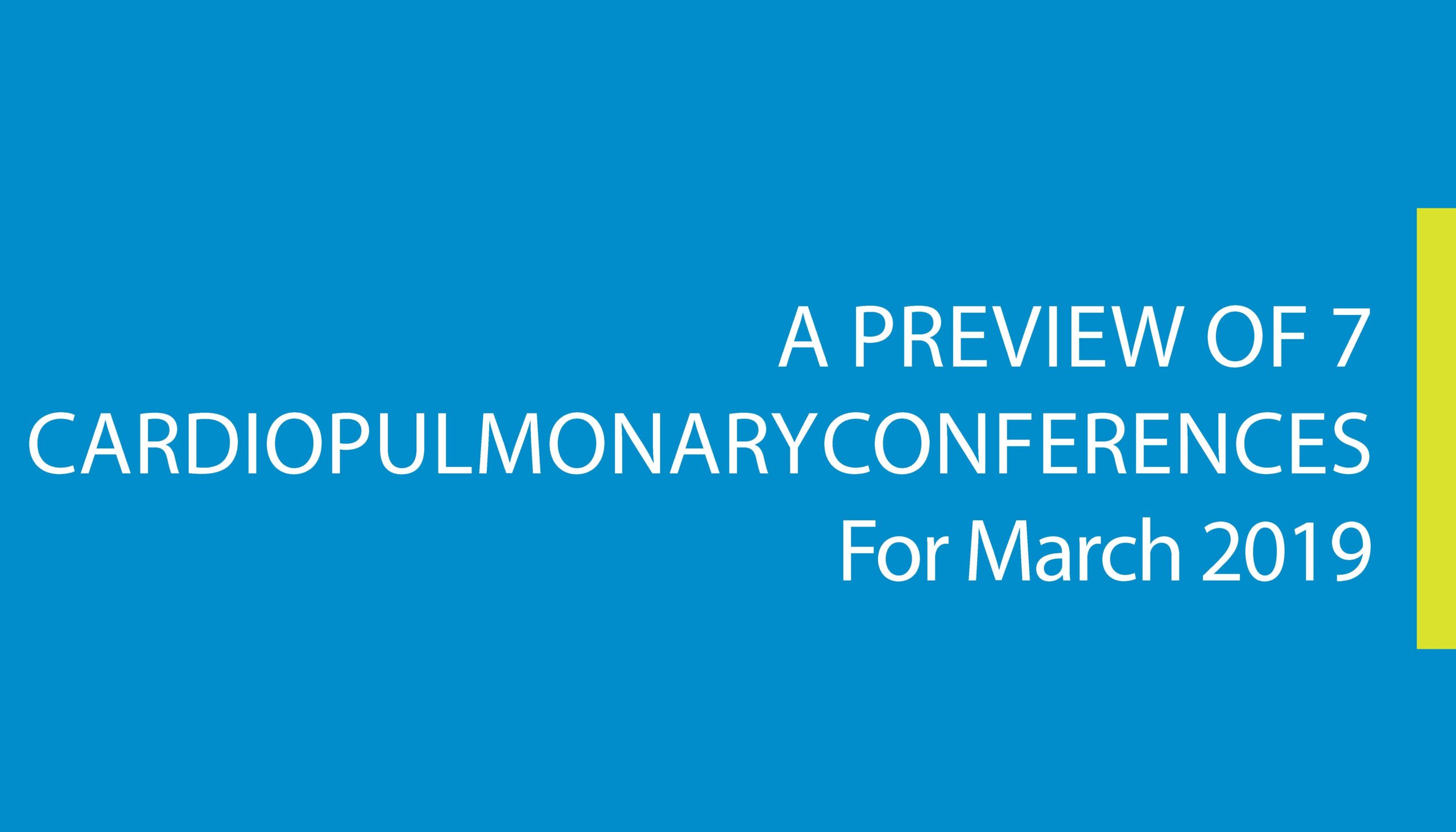 Upcoming Conferences in March